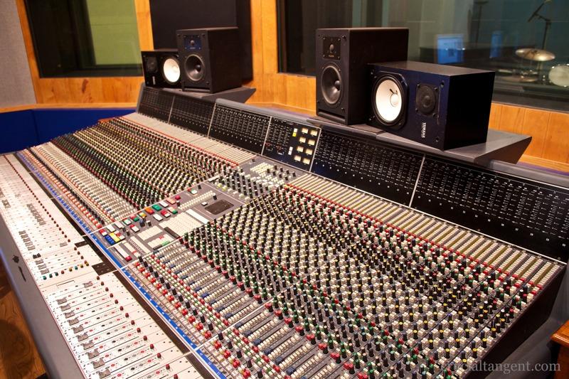 Big honkin' console in Studio A at The Annex Studio