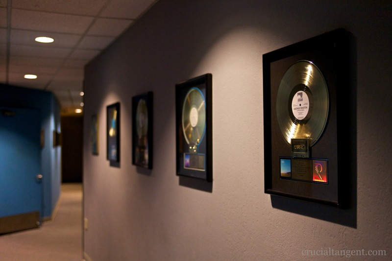 Gold records line the walls of The Annex studios