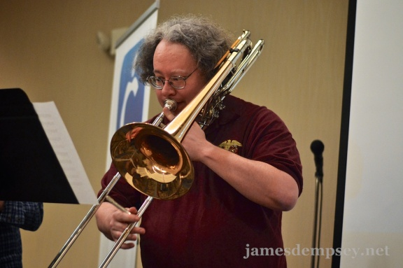 Mark Dalrymple playing trombone